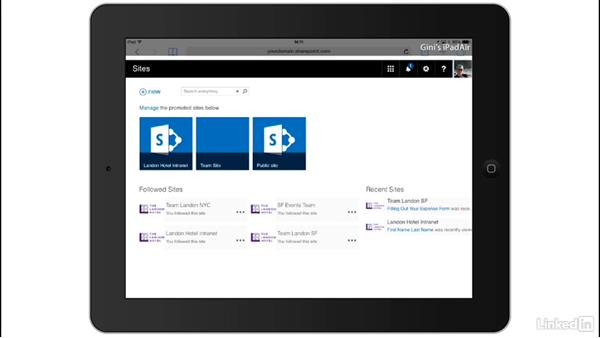 Switch between views: SharePoint Online Essential Training
