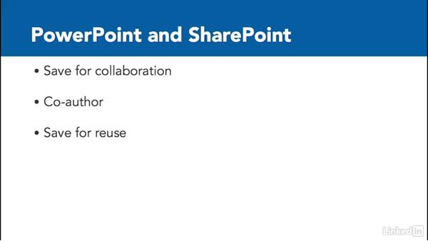 PowerPoint and SharePoint: SharePoint Online Essential Training
