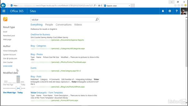 Search in SharePoint Online: SharePoint Online Essential Training