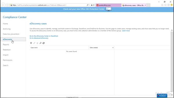 Protection and compliance: The basics: SharePoint Online Essential Training