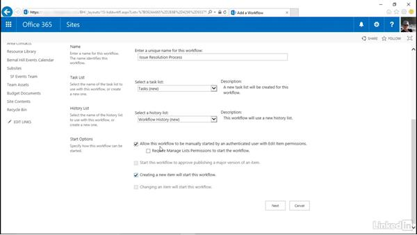 Customize the three-state workflow: SharePoint Online Essential Training