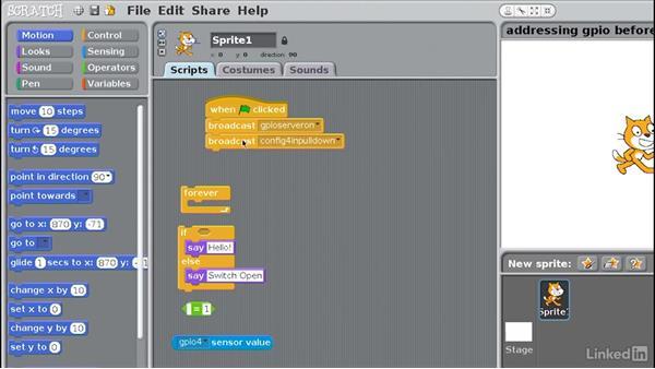 Scratch programs for input: Raspberry Pi GPIO In Depth