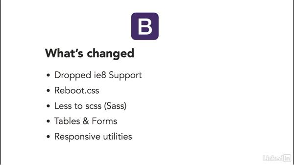 Summary of the Bootstrap 4 upgrade: Bootstrap 4: First Look
