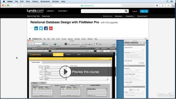 A message about relationships: FileMaker Pro 15 Essential Training