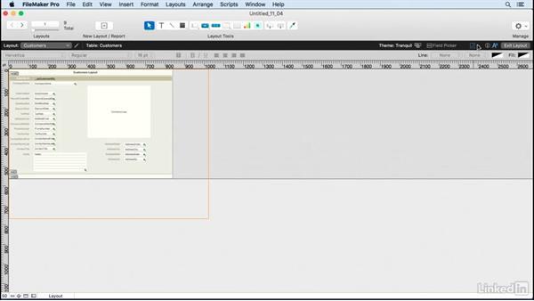 Apply screen stencils: FileMaker Pro 15 Essential Training