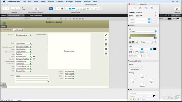 Apply gradients: FileMaker Pro 15 Essential Training