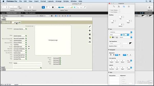 Format fields and apply field attributes: FileMaker Pro 15 Essential Training