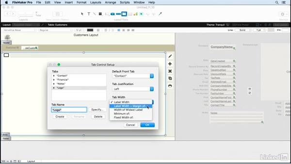 Use the tab control feature: FileMaker Pro 15 Essential Training
