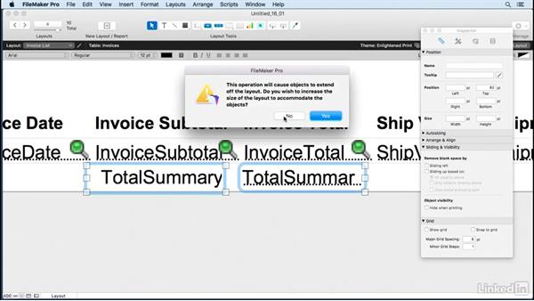 Build simple reports with summary fields: FileMaker Pro 15 Essential Training