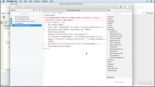 Import scripts from other files: FileMaker Pro 15 Essential Training