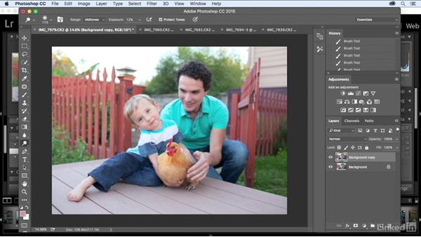 Making a few basic edits using Photoshop: Kids Photography: At Home