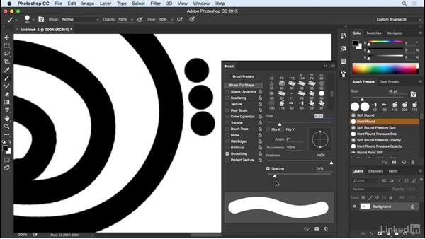 The illusion of continuous strokes: Customizing Brushes in Photoshop
