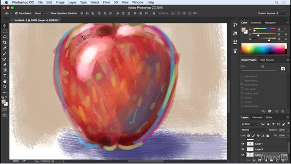 Painting with a captured brush tip: Customizing Brushes in Photoshop