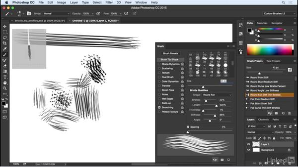 Mimicking a brush with a Bristle tip: Customizing Brushes in Photoshop