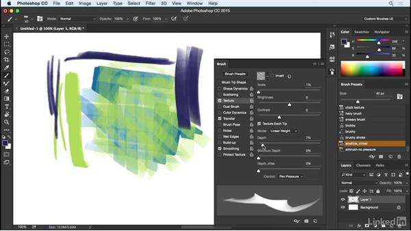Implying a surface with texture: Customizing Brushes in Photoshop