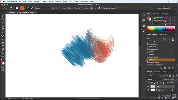 Blending color with the Mixer Brush: Customizing Brushes in Photoshop
