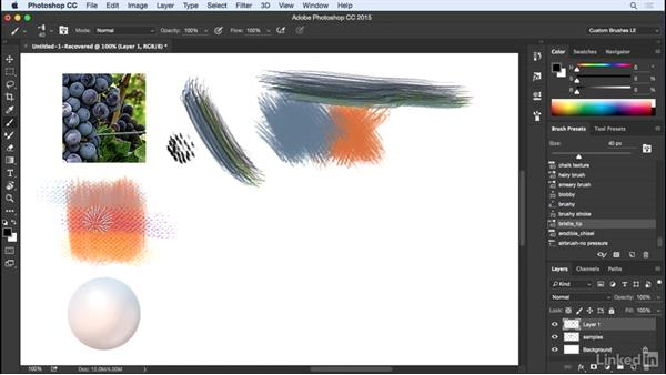 Loading a brush with multiple colors: Customizing Brushes in Photoshop