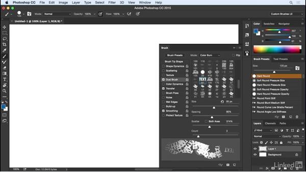 Enhancing fidelity with dual brushes: Customizing Brushes in Photoshop
