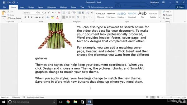 Insert placeholder text: Word 2016 Advanced Tips and Tricks
