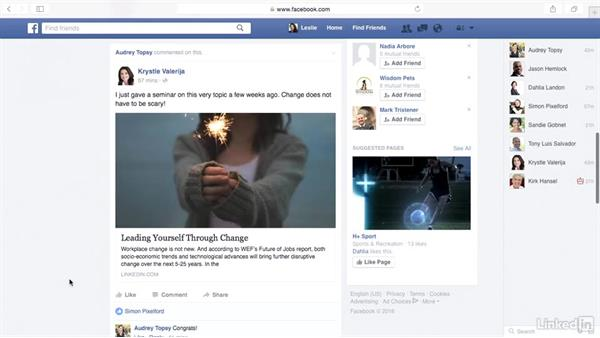Explore the Facebook news feed: Learn Facebook: The Basics