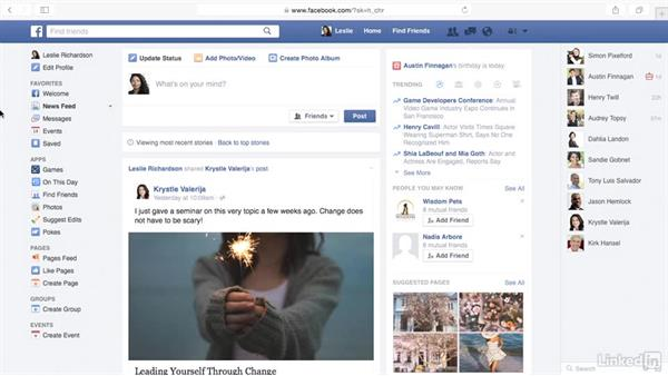 Sort your Facebook news feed: Learn Facebook: The Basics