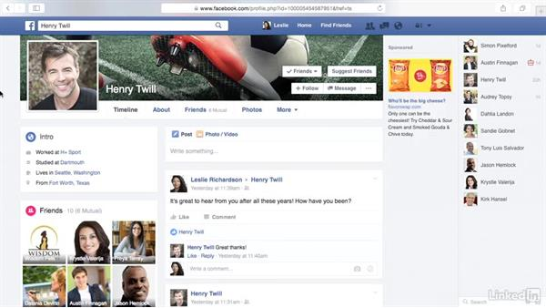 Hide people and updates in your news feed: Learn Facebook: The Basics