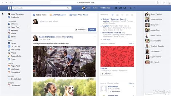 Upload photos to Facebook: Learn Facebook: The Basics