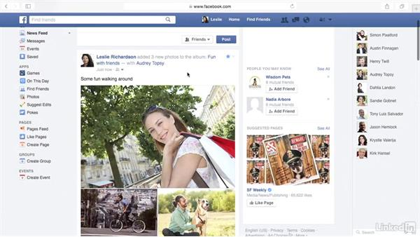 Tag friends in photos: Learn Facebook: The Basics