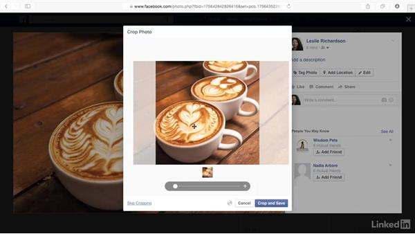Set your profile photo and download photos: Learn Facebook: The Basics