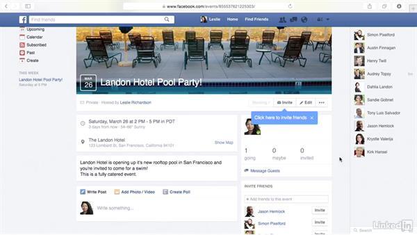 Create an event: Learn Facebook: The Basics
