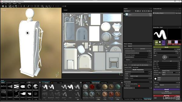 Adjusting the viewer settings: Substance Painter: Petrol Pump Game Asset