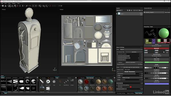 Setting up custom tools: Substance Painter: Petrol Pump Game Asset