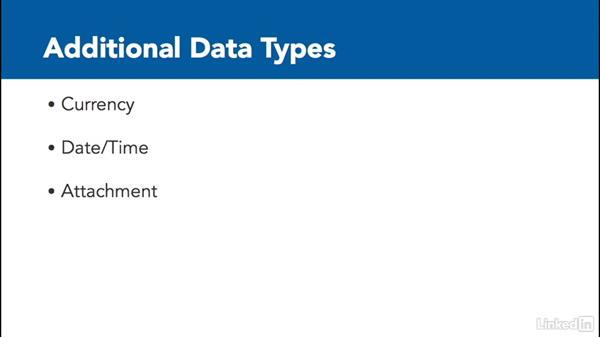Define data types: Learn Access for Office 365