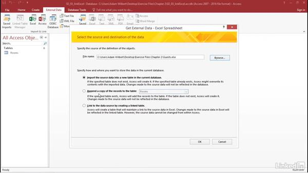 Import data from an Excel workbook: Learn Access for Office 365