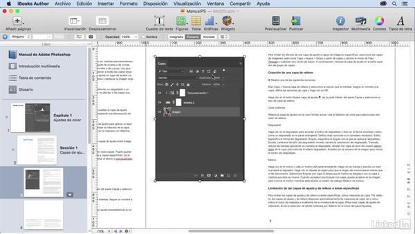 Importar objetos integrados en el texto con iBooks Author