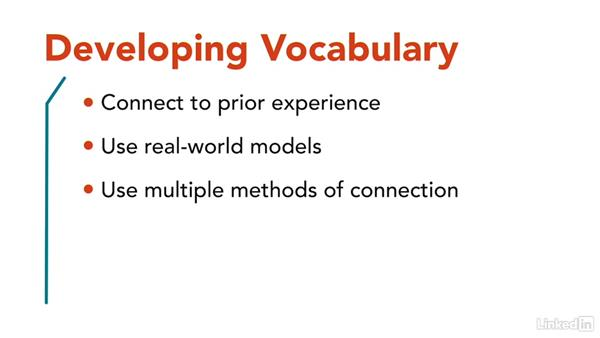 Develop vocabulary and key concepts: How to Teach Complex Topics