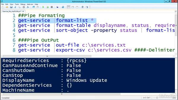 Working with output: Understanding PowerShell 5.0