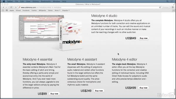 Melodyne variants: Learn Melodyne 4: The Basics