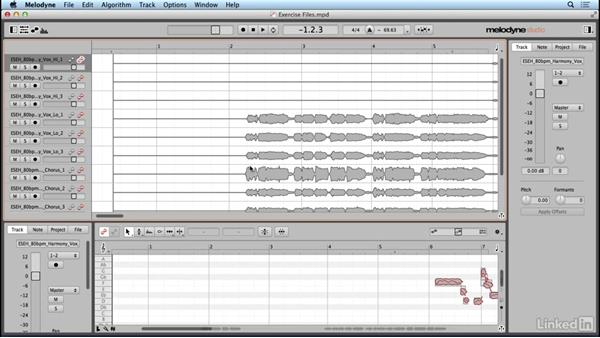 Using the exercise files: Learn Melodyne 4: The Basics