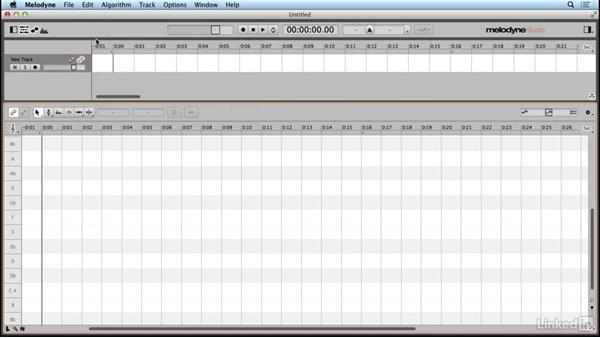 Creating a new project: Learn Melodyne 4: The Basics