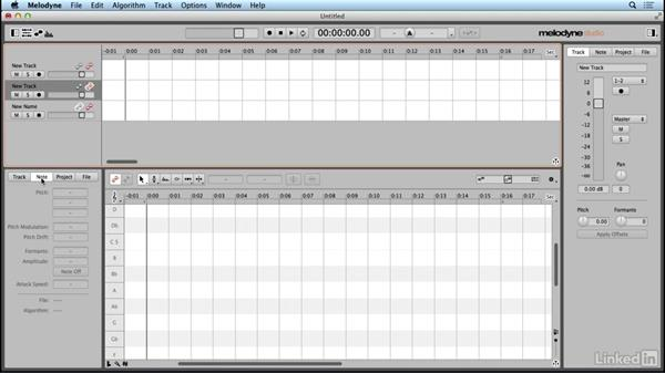 Exploring the interface: Learn Melodyne 4: The Basics
