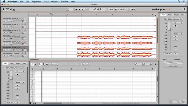 Managing tracks and files: Learn Melodyne 4: The Basics