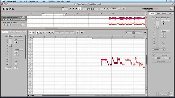 Using playback, navigation and view options: Learn Melodyne 4: The Basics