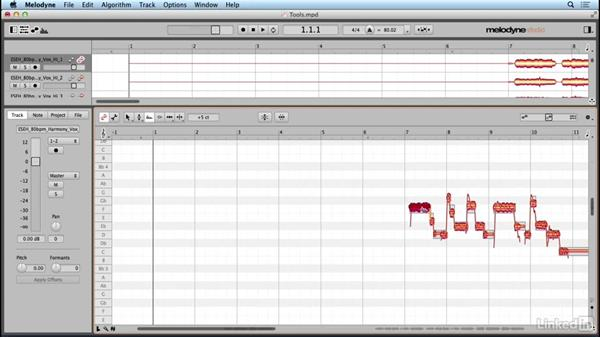 Using the Formant tool: Learn Melodyne 4: The Basics