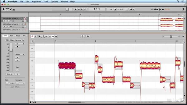 Using the timing tool and sub-tools: Learn Melodyne 4: The Basics