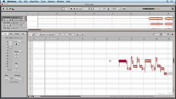 Using the main tool: Learn Melodyne 4: The Basics