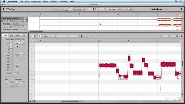 Resetting parameters: Learn Melodyne 4: The Basics