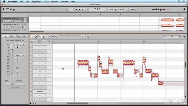 Working with scales and tuning: Learn Melodyne 4: The Basics