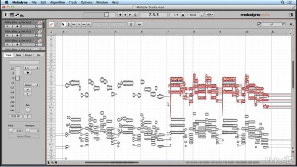 Editing multiple tracks simultaneously: Learn Melodyne 4: The Basics