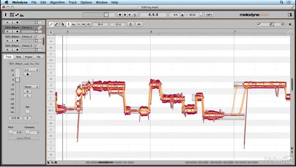Applying the tools with an editing example: Learn Melodyne 4: The Basics